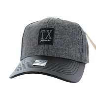 VM859 Texas State Baseball Hat Cap (Charcoal & Black)