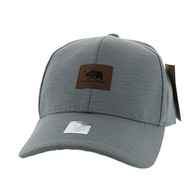 VM892 Cali Bear Cotton Velcro Cap (Grey & Grey)