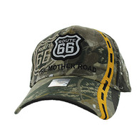 VM083 Route 66 Road Line Velcro Cap (Solid Hunting Camo)