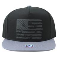 SM912 USA Flag Snapback (Black & Grey)