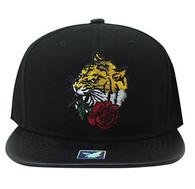 SM930 Tiger Snapback Cap (Black & Black)