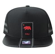 SM943 Cali Bear Snapback (Black & Black)