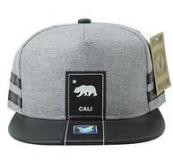 SM943 Cali Bear Snapback (Grey & Black)