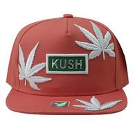 SM946 Marijuana Snapback Cap (Pink & Pink)