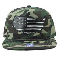 SM947 America USA Flag Snapback (Military Camo & Military Camo)