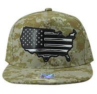 SM947 America USA Flag Snapback (Digital Camo & Digital Camo)