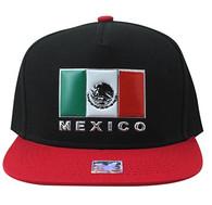 SM962 Mexico Cotton Snapback (Black & Red)