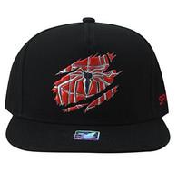 SM964 Spider Snapback Cap (Solid Black)
