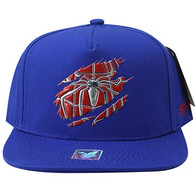 SM964 Spider Snapback Cap (Solid Royal Blue)