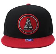 SM984 Atlanta City Snapback (Black & Red)