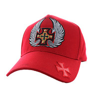 VM733 Choppers Cotton Baseball Cap (Solid Red)