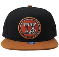 SM984 Texas State Snapback (Black & Texas Orange)
