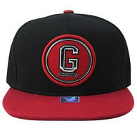 SM984 Georgia State Snapback (Black & Red)