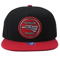 SM984 Hecho En Mexico Eagle Snapback (Black & Red)