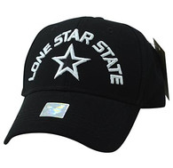 VM031 Lone Star State Baseball Cap (Black & Black)