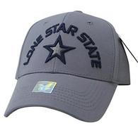 VM031 Lone Star State Baseball Cap (Grey & Grey)