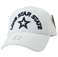 VM031 Lone Star State Baseball Cap (White & White)
