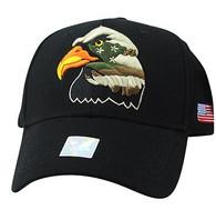VM036 American USA Eagle Velcro Cap (Black & Black)