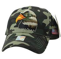 VM036 American USA Eagle Velcro Cap (Military Camo & Military Camo)