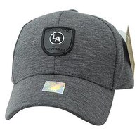 VM790 Los Angeles Cotton Baseball Cap Hat (Charcoal & Charcoal)