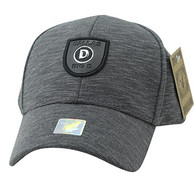VM790 Dallas Cotton Baseball Cap Hat (Charcoal & Charcoal)