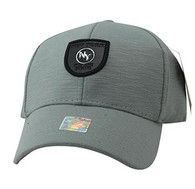 VM790 New York Cotton Baseball Cap Hat  (Grey & Grey)
