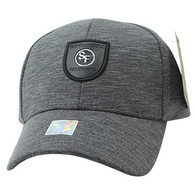 VM790 San Francisco Cotton Baseball Cap Hat (Charcoal & Charcoal)