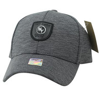 VM790 New York Cotton Baseball Cap Hat  (Charcoal & Charcoal)