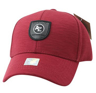VM790 Arizona Cotton Baseball Cap Hat (Red & Red)
