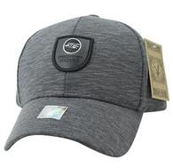 VM790 Hecho En Mexico Eagle Cotton Baseball Cap Hat (Charcoal & Charcoal)