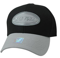 VM815 New York Cotton Baseball Cap Hat  (Black & Grey)