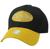 VM815 Green Bay City Baseball Hat Cap (Black & Gold)