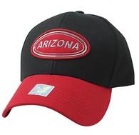 VM815 Arizona Cotton Baseball Cap Hat  (Black & Red)