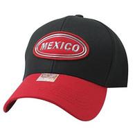VM815 Mexico Cotton Baseball Cap Hat  (Black & Red)
