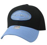 VM815 Guatemala Cotton Baseball Cap Hat  (Black & Sky Blue)