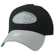 VM815 Dallas Cotton Baseball Cap Hat  (Black & Grey)