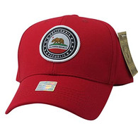 VM899 Cali Bear Cotton Velcro Cap (Red & Red)