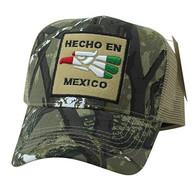 VM918 Hecho En Mexico Eagle Mesh Trucker Baseball Cap (Hunting Camo & Khaki)