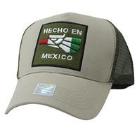 VM918 Hecho En Mexico Eagle Mesh Trucker Baseball Cap (Khaki & Olive)