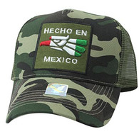 VM918 Hecho En Mexico Eagle Mesh Trucker Baseball Cap (Military Camo & Olive)