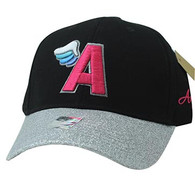 VM919 A Wing Cotton Baseball Cap (Black & Silver)
