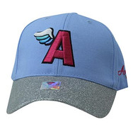 VM919 A Wing Cotton Baseball Cap (Sky Blue & Silver)
