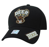 VM929 Deer Hunting Velcro Cap (Black & Black)