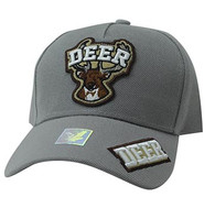 VM929 Deer Hunting Velcro Cap (Light Grey & Light Grey)