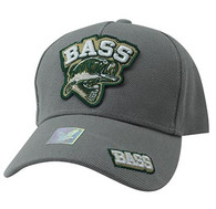 VM929 Big Bass Outdoor Sports  Velcro Cap (Light Grey & Light Grey)