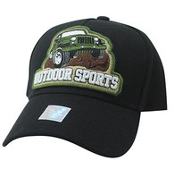 VM929 Jeep Truck Outdoor Sports Velcro Cap (Black & Black)