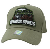 VM929 Jeep Truck Outdoor Sports Velcro Cap (Khaki & Khaki)