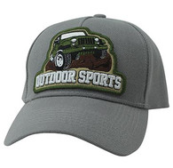 VM929 Jeep Truck Outdoor Sports Velcro Cap (Light Grey & Light Grey)