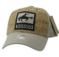 VM961 Rodeo Horse Rider Velcro Cap (Khaki & Khaki)