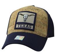 VM961 Texas State Baseball Hat Cap (Navy & Navy)